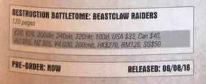 Beastclaw Raiders Battletome 7 Pricing
