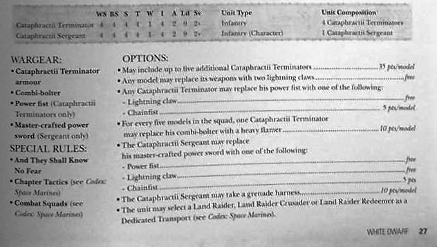 Cataphractii rules 1
