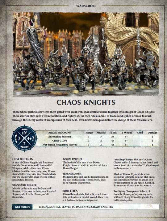 Chaos Knight Warscroll