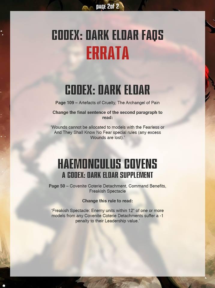 Dark Eldar fAQ 2