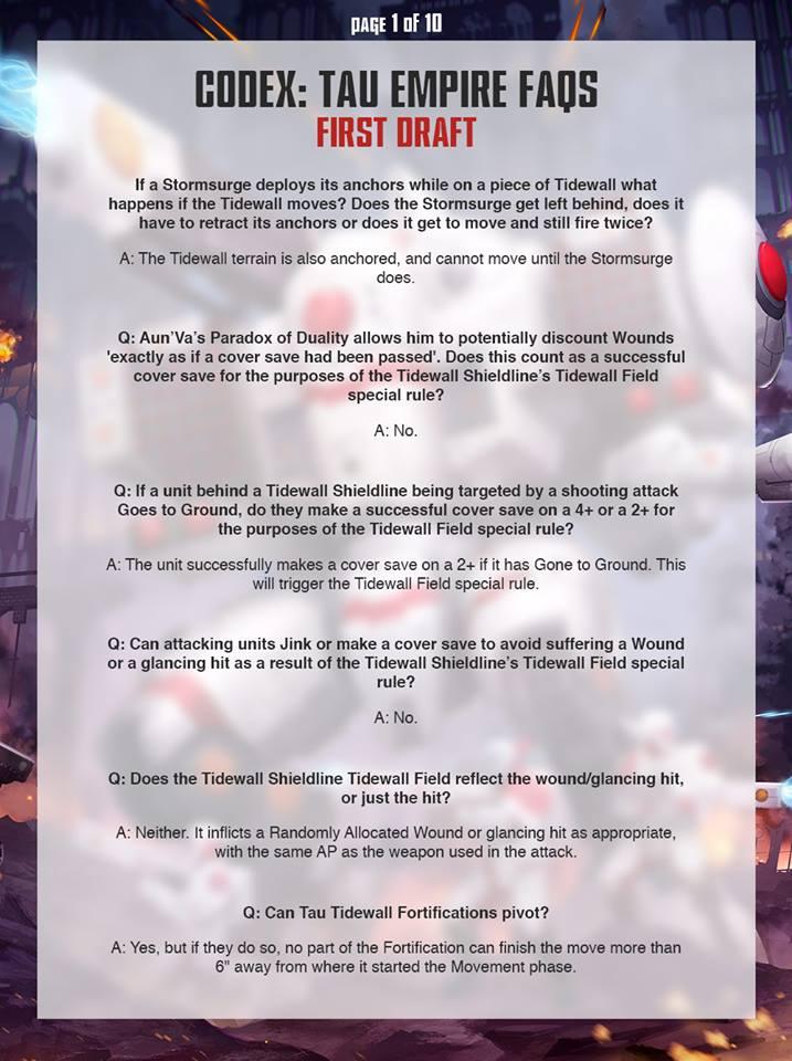 Tau FAQ 1