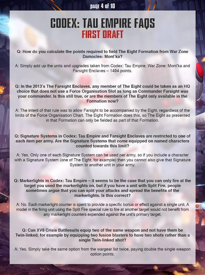 Tau FAQ 3