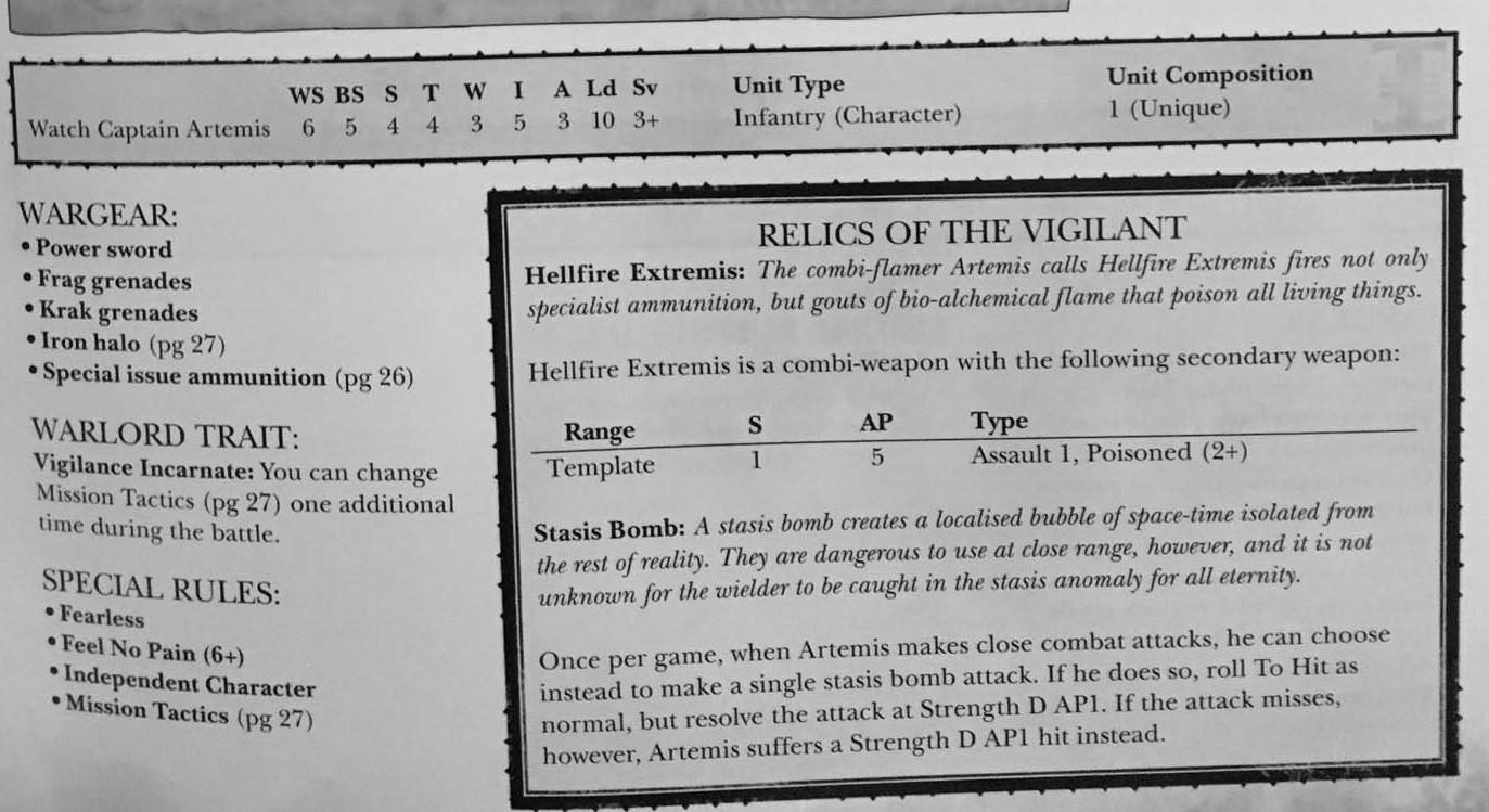 Artemis Rules 1