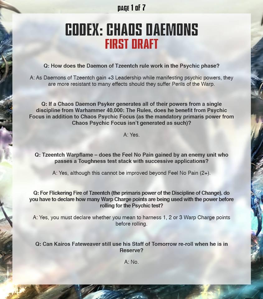 Daemon FAQ 1