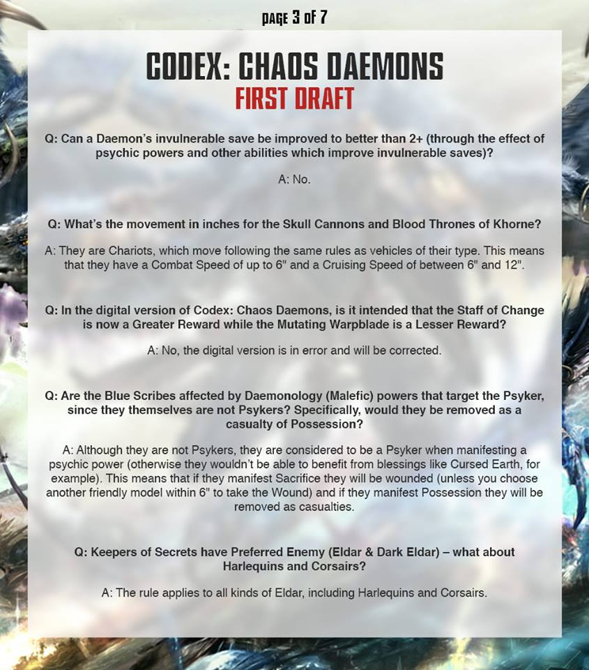 Daemon FAQ 3