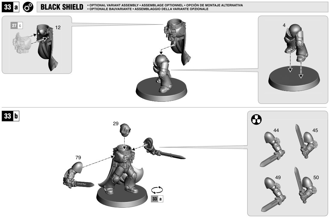 Deathwatch 5 Black Shield Bits