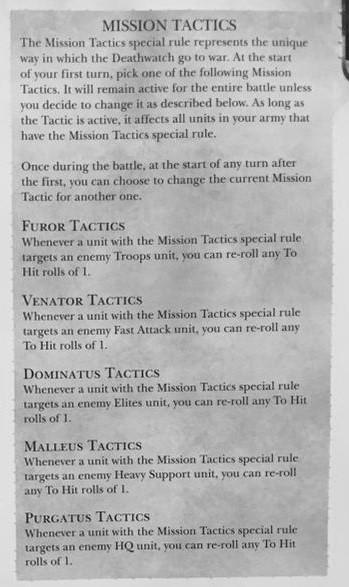 Deathwatch Mission Tactics 1