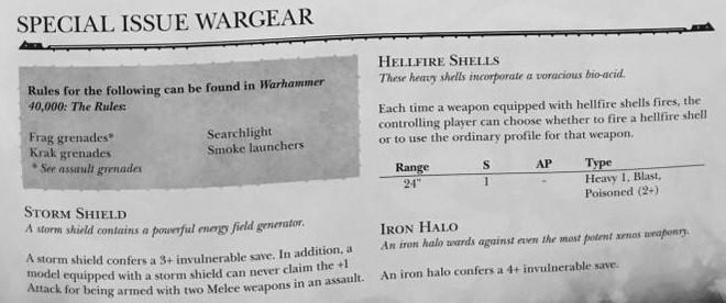 Deathwatch Special Issue Wargear