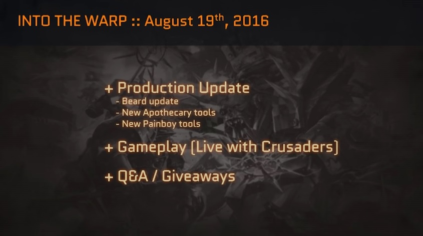 EC Production Update Aug 19th