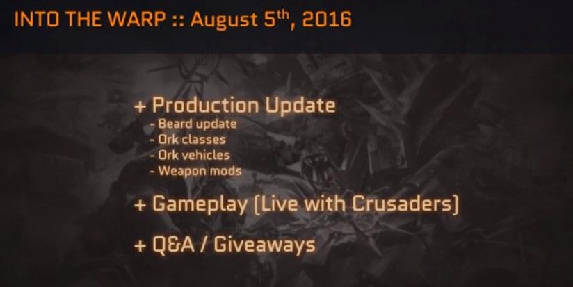 Eternal Crusade 8-6-2016
