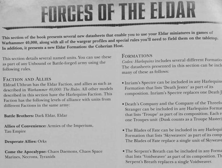 Forces of the Eldar DM 1