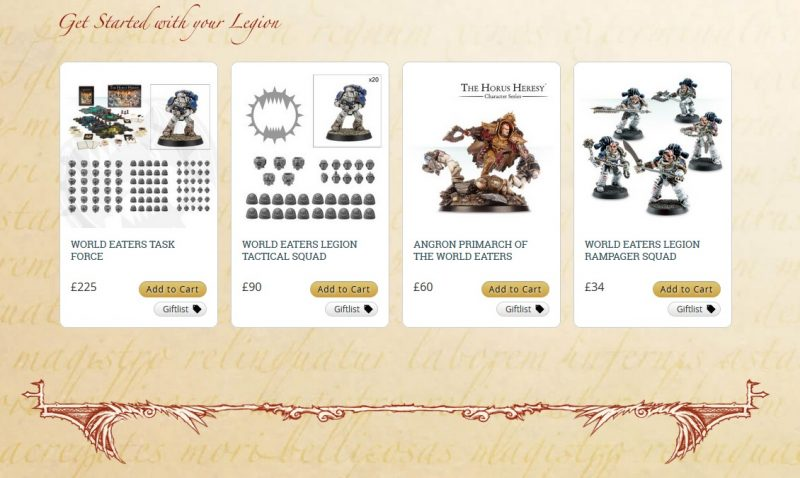 World Eaters Legion recommendations