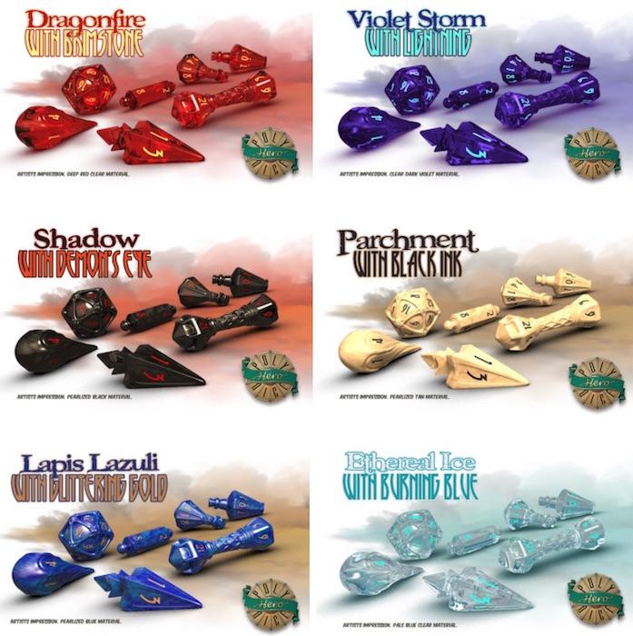 wizard dice colors