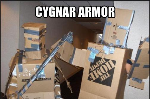 cygnar armor