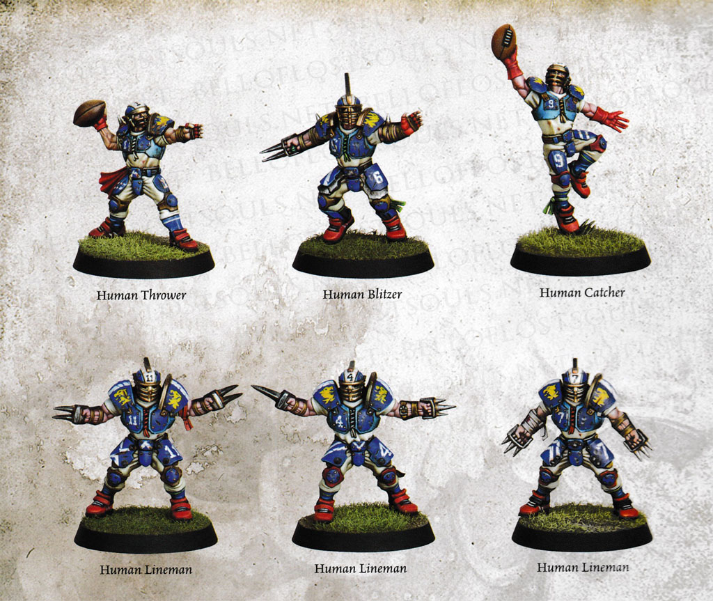 BLOOD BOWL HUMAN PLAYERS MULTI-LISTING