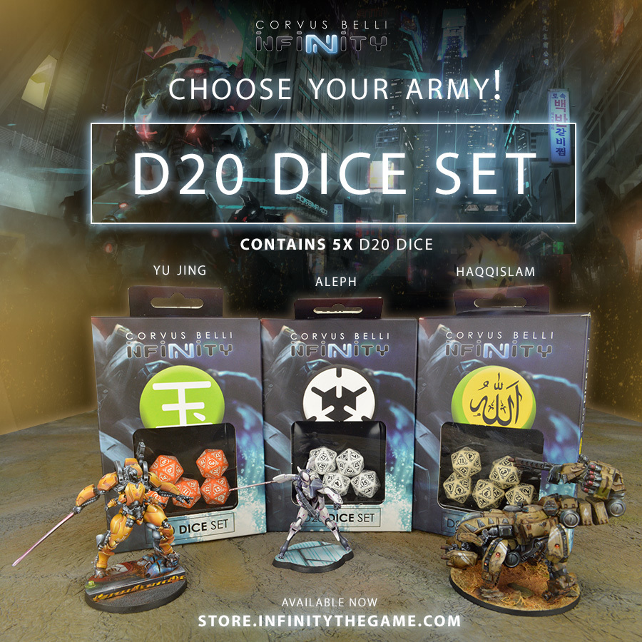 Infinity dice sets d20