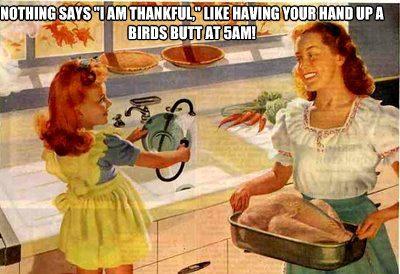 thanksgiving turkey butt