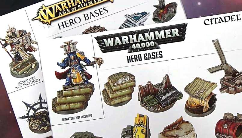 B Warhammer Age of Sigmar HERO BASE Round 40mm