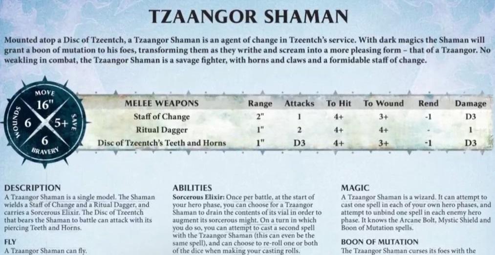 tzaangor-shaman