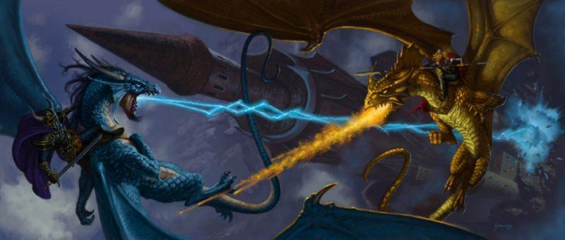 dagron rider fight krynn dungeons dragons