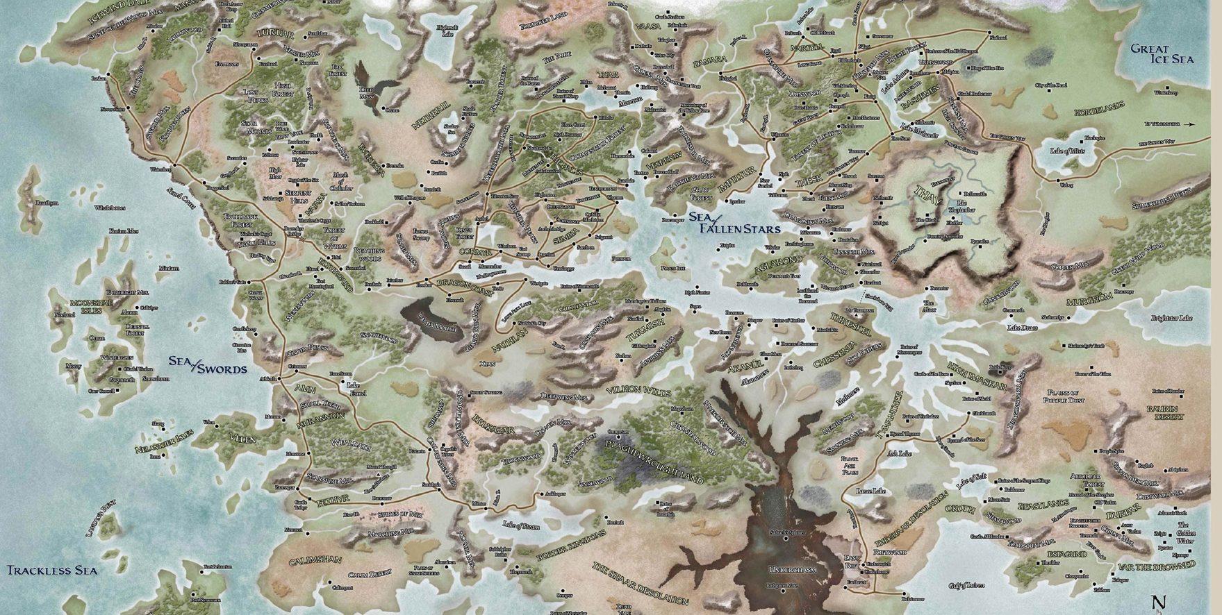 faerun map dungeons dragons