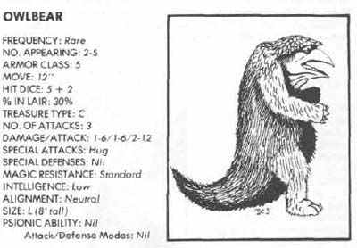 owlbear 1st