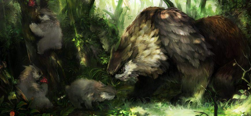 owlbear and cub