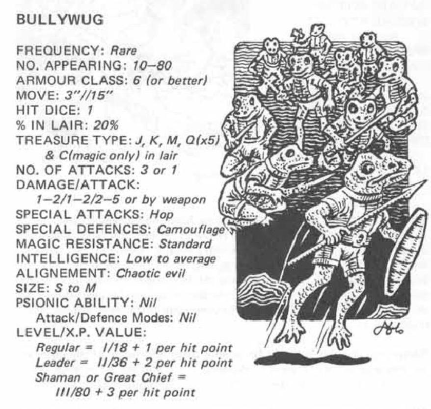 Bullywug 1st Ed