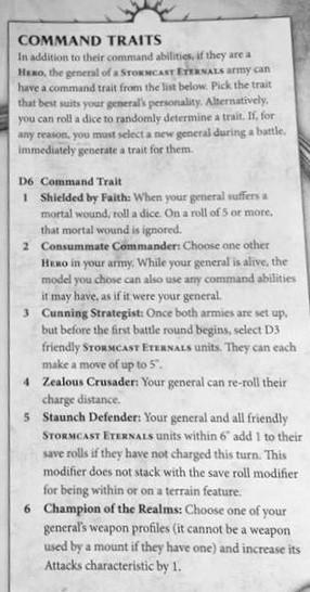 Command traits