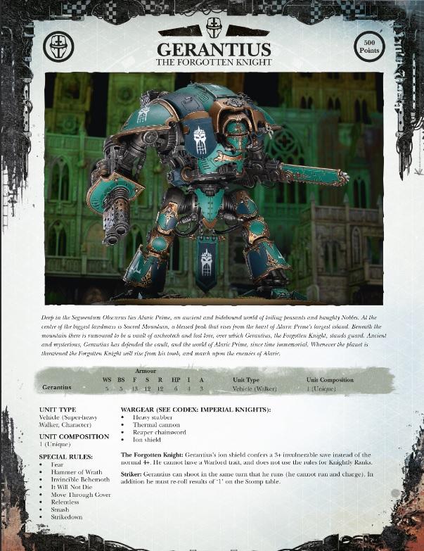 Gerantius pdf knight
