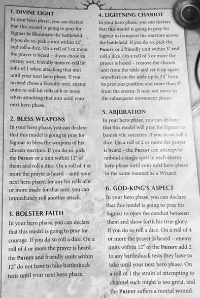 Sigmar Prayers 1