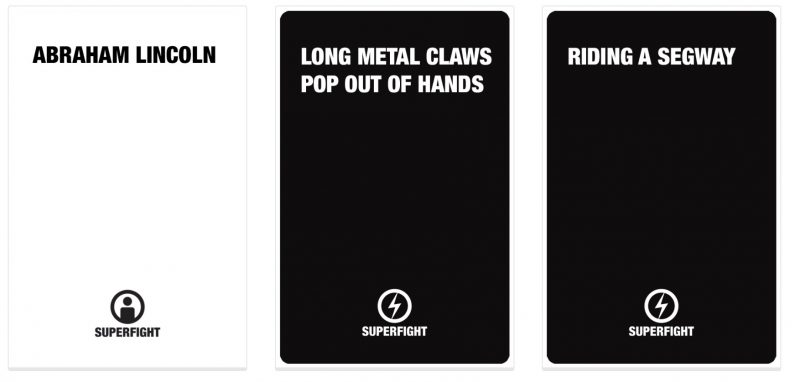 Superfight cards