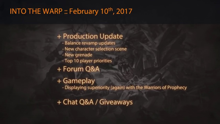 ec warp 99 production update