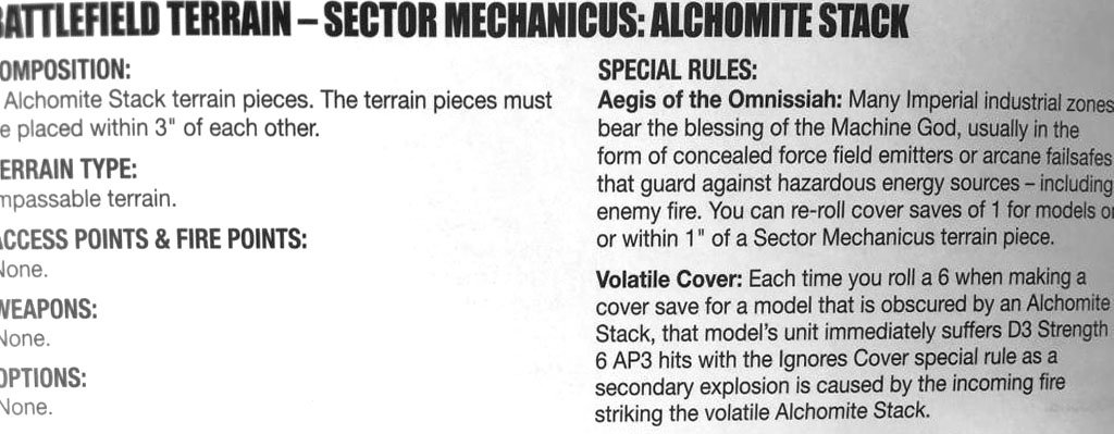 40K: New Terrain Rules Spotted - ZZAP! - Bell of Lost Souls
