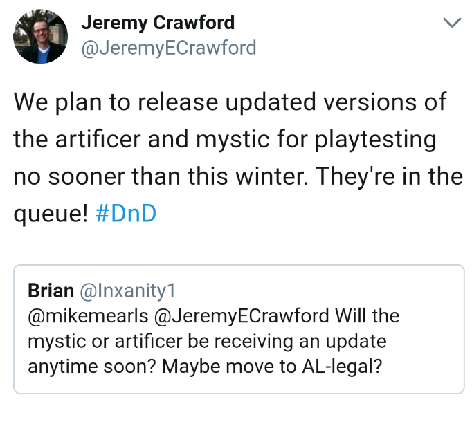 D&D: Survey Says Revised Ranger, Mystic, and Artificer Soon - Bell