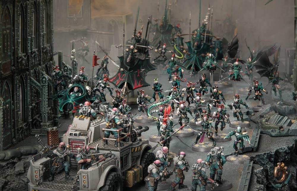 Warhammer 40K Drukhari Ravager Dark Eldar Lot A guns on sprue V4 A