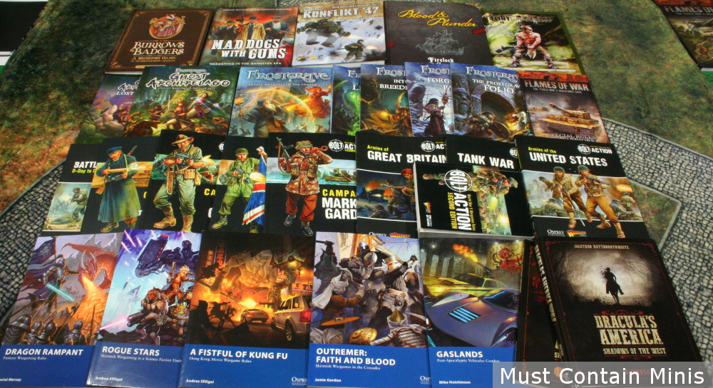 Collection of Osprey Games Books