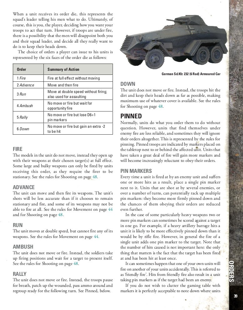 Bolt Action Review - Order Dice page preview