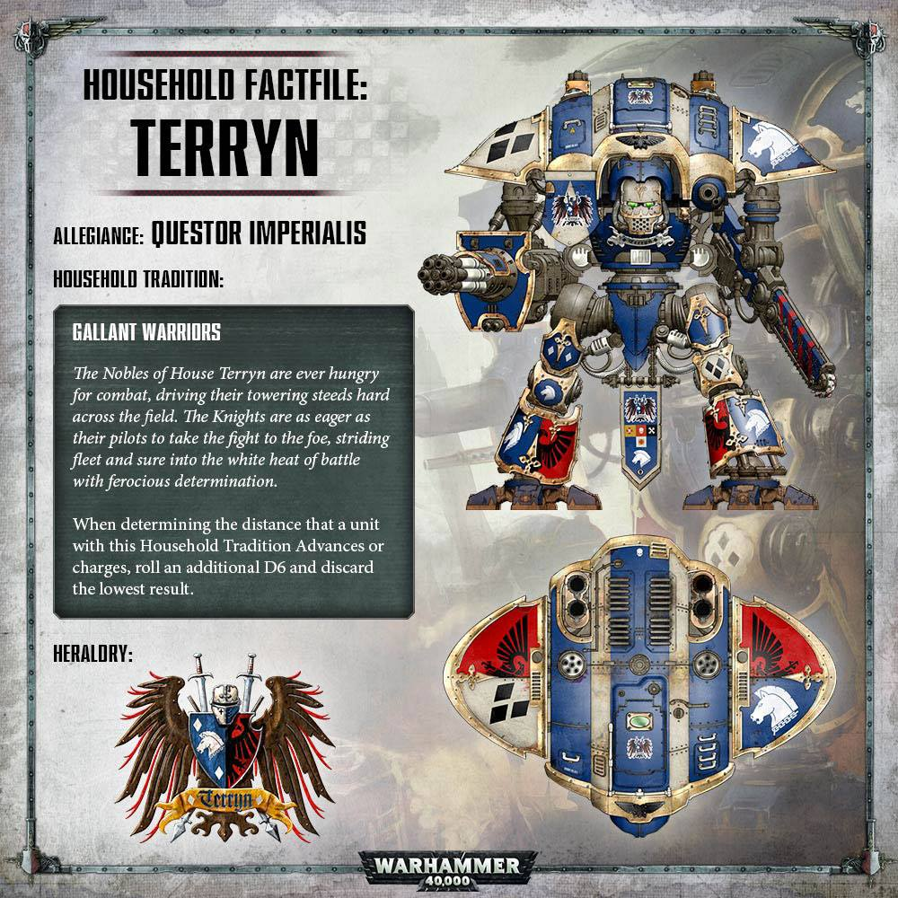 40K: Imperial Knights - House Terryn And House Raven Rules