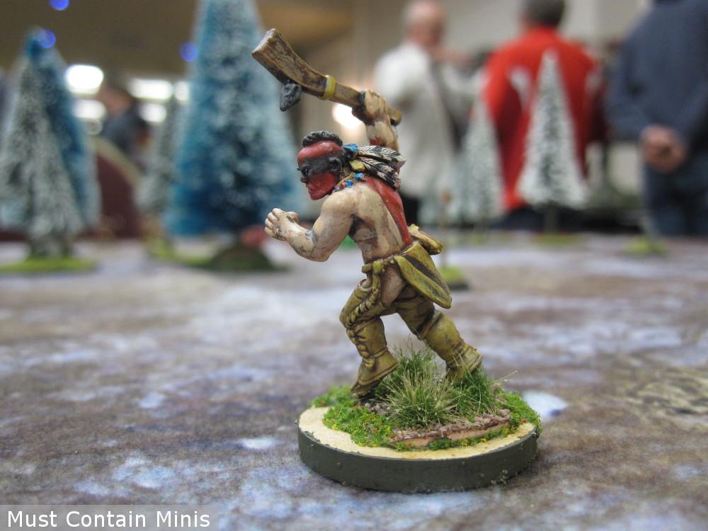 Wendat Warrior Miniature by Crucible Crush - Native American
