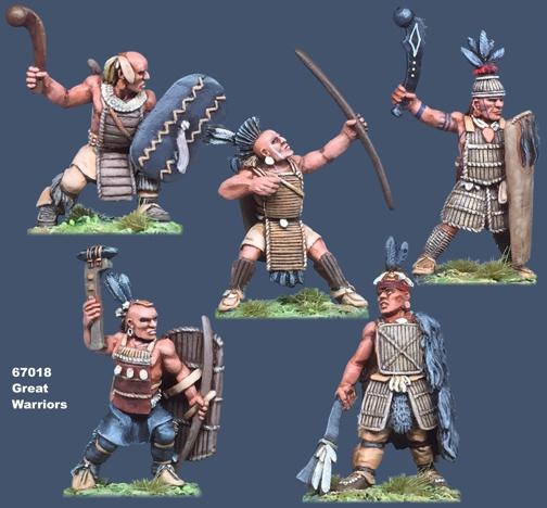Miniatures of Iroquoian Great Warriors - Native American Warriors before Europeans