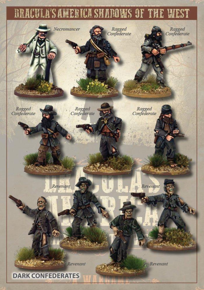 Dark Confederates Miniatures for Dracula's America