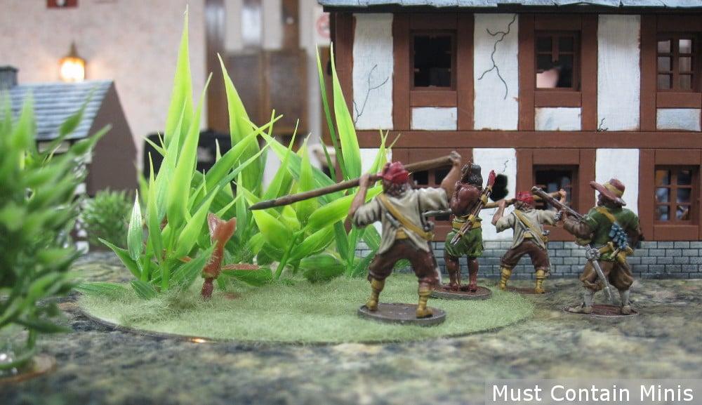 Blood and Plunder Spanish Lanceros in Frostgrave Ghost Archipelago
