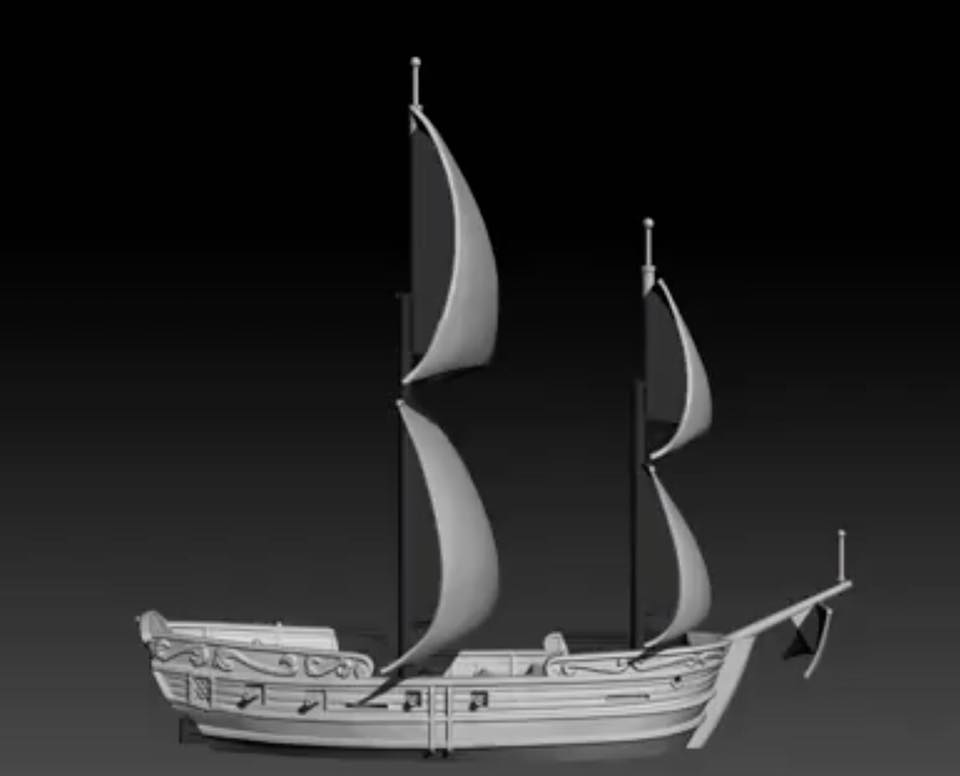 Oak and Iron Game Preview - ship - Kickstarter