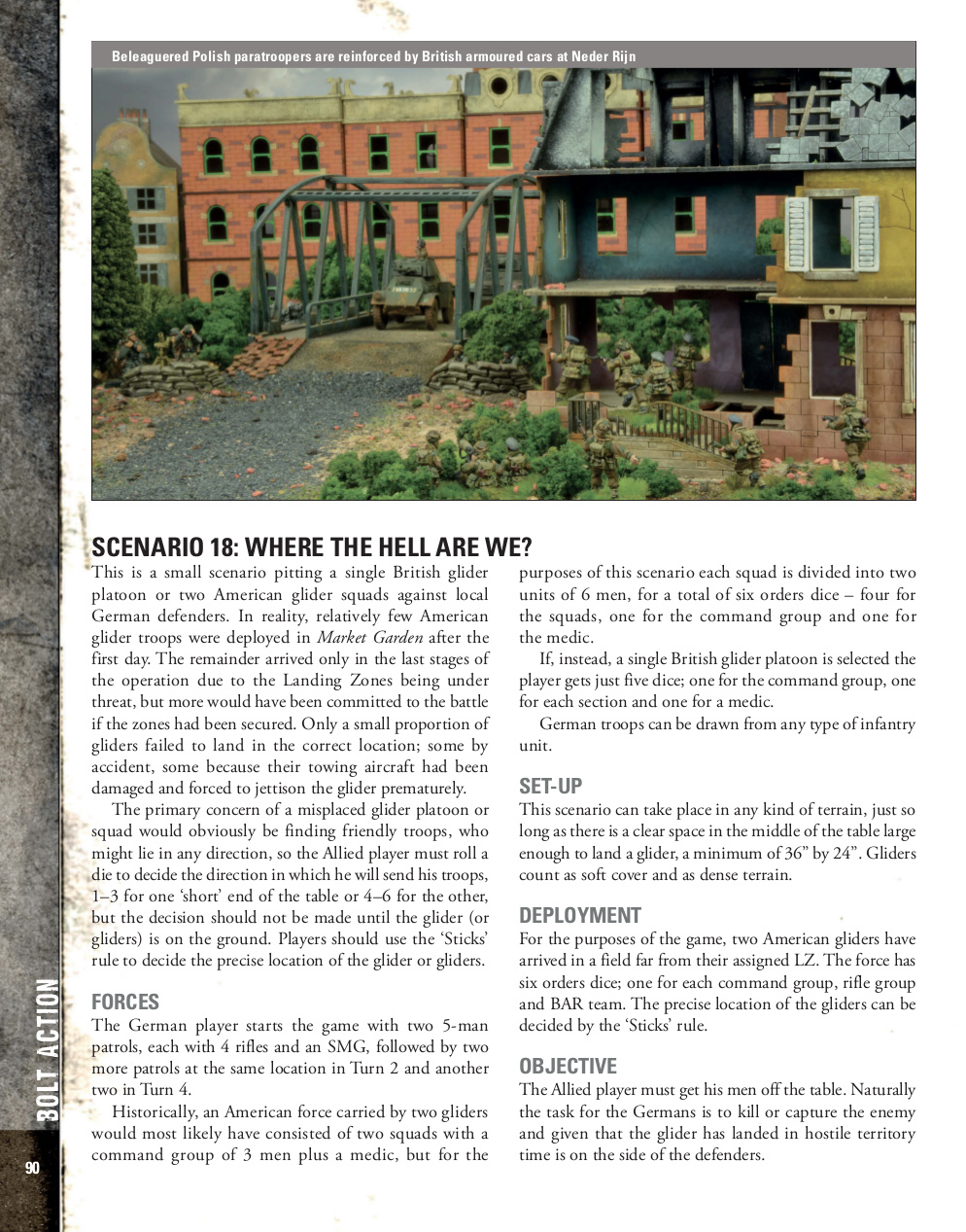 Sample page of Market Garden for Bolt Action