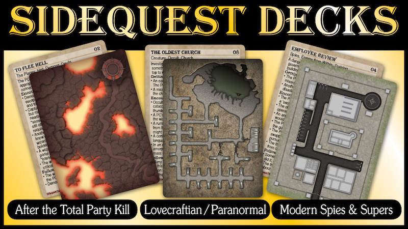 RPG: Level Up Your Campaign With These New Sidequest Decks
