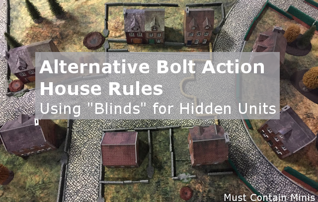 Using Blinds from Black Ops by Osprey Games in Bolt Action
