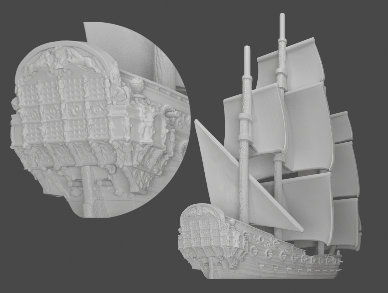 Oak & Iron 4th Rate Ship Preview Image - Rear of the Ship