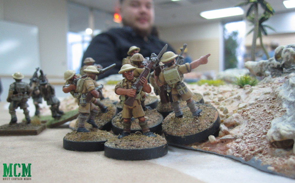 British Soldiers by Crucible Crush Western Desert Miniatures - Running a Bolt Action Demo