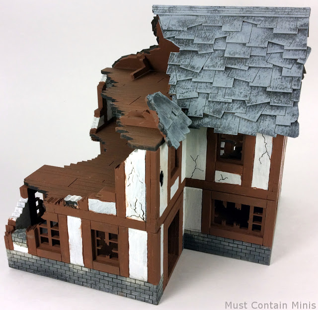 Ruined Building Wargame terrain ww2